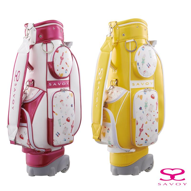 【ニュースリリース】移動中も楽しくなる女性ゴルファーのためのキャスター付きキャディバッグ『SAVOY キャディバッグ7004』発売