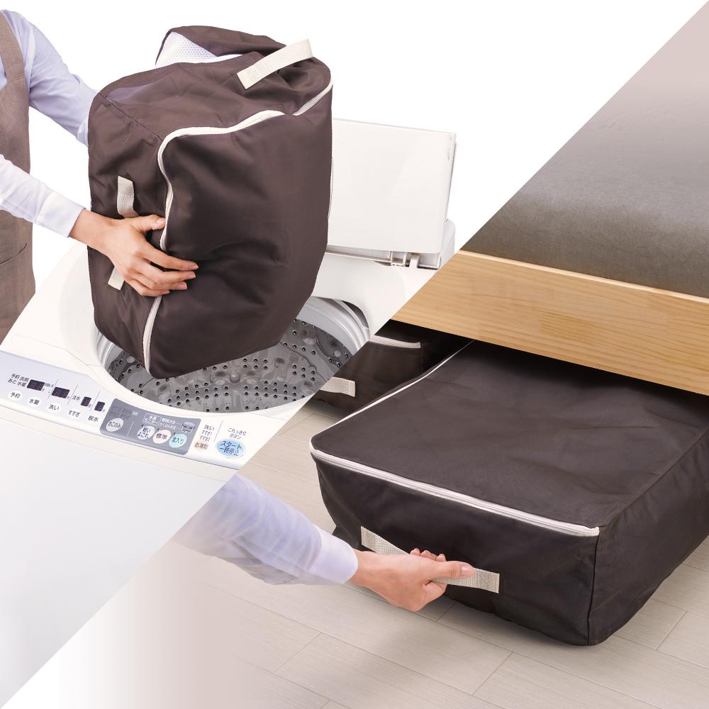 【ニュースリリース】寝具用洗濯ネットとして使えるポリエステルメッシュの収納袋『ダイヤ 洗濯できる収納袋寝具用』を発売
